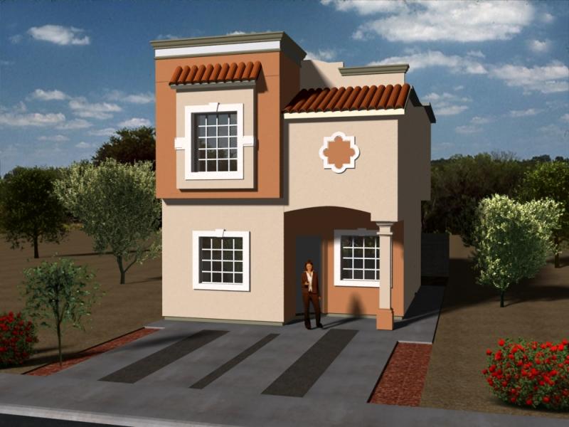 Casas con losetas pictures to pin on pinterest pinsdaddy for Losetas para fachadas
